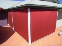 Channel Guide Awning With Canvas Skin