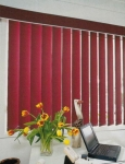 Verical Drape Red Closed