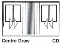 Vertical Drape Center Draw