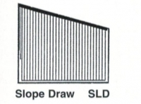 Vertical Drape Slope Draw
