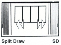 Vertical Drape Split Draw