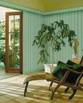 Vertical Drape Green Closed