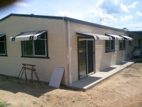 Vertical Stripe Awning with panel ends