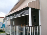Vertical Stripe Awning with Channel Guide Awning under